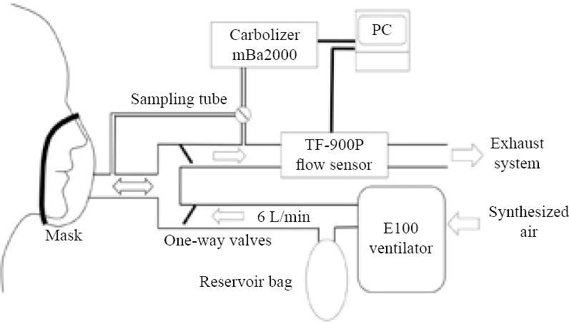 View image figure 1 schematic diagram of the device used to estimate the minute volumes of carbon monoxide and carbon dioxide exhalation each minute and the end tidal sciox Gallery